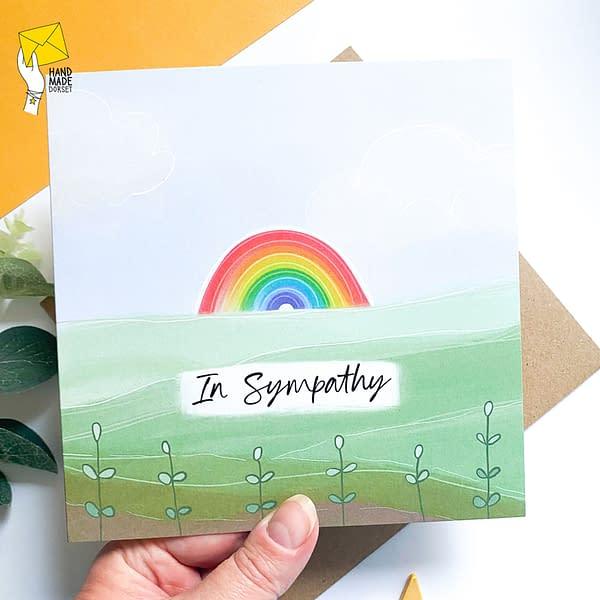 In sympathy card, sympathy card