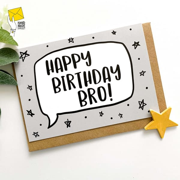 Bro birthday card, card for brother