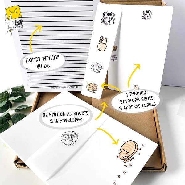 Writing paper set, cat letter writing paper