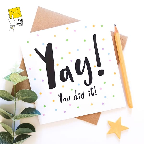 You did it card, exam success card, congratulations