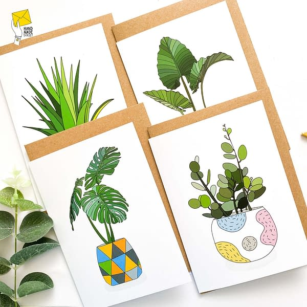 Plant note cards, set of plant cards
