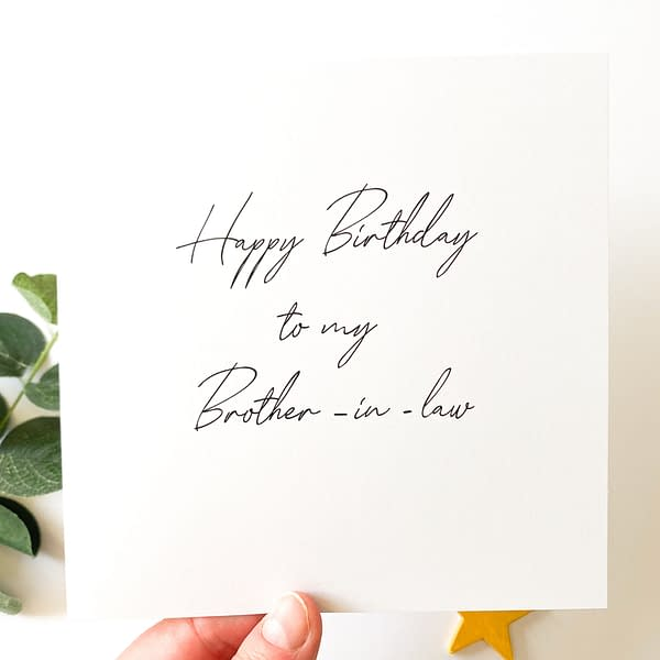 Brother-in-law card, card for brother in law