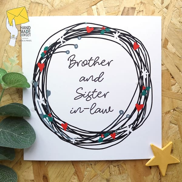 brother and sister in law christmas card, Christmas card for brother and sister in law