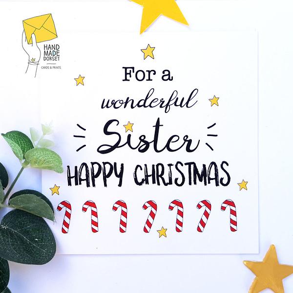 Sister Christmas card, card for sister