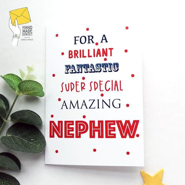 Nephew birthday card, birthday card for nephew