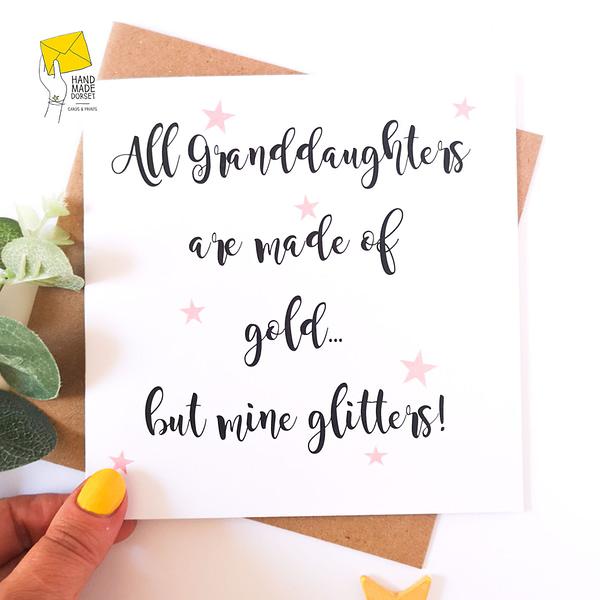Granddaughter card, card for granddaughter