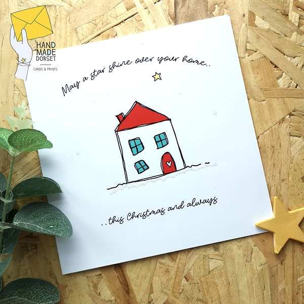 Christmas card, first christmas in new home