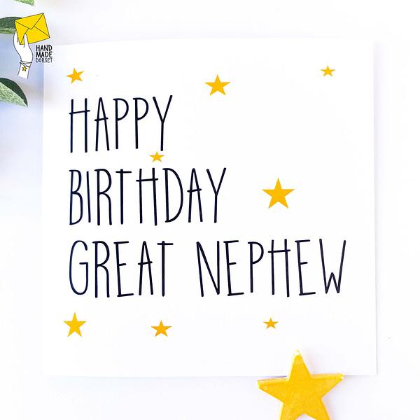 Great nephew birthday card, birthday card for great nephew