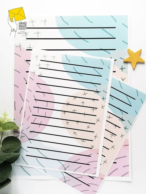 Writing paper, abstract pattern paper