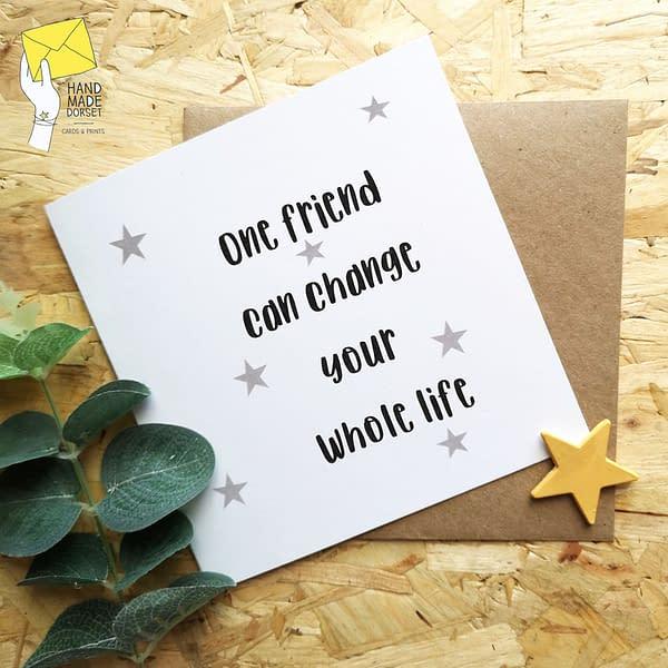 Card for friend, friendship card
