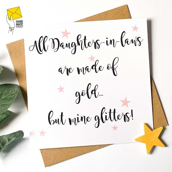Daughter in law card, card for daughter in law