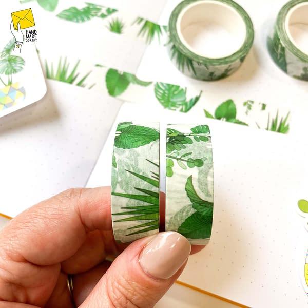 Plant washi tape, pot plant tape washi tape plants